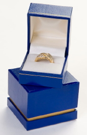 Blue Reveal Ring Box