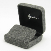 Charcoal American Flannel - Flap Earring Box_1