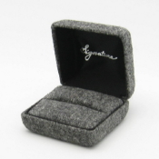 Charcoal American Flannel - Ring Box