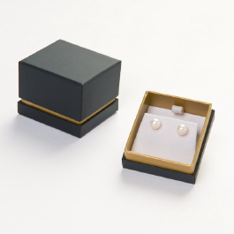 Black Single Box Reveal Post Earring Box