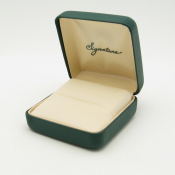 #3R Green Vienna Leather Ring Box