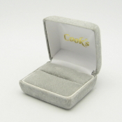 #8 Platinum Shadow Suede Ring Box